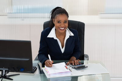 financial accountants smiling