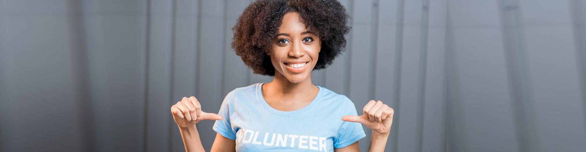 adult woman volunteer